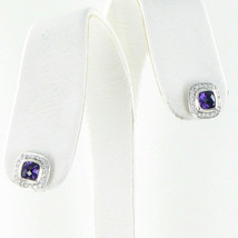 David Yurman Color Classic Stud Earrings Diamond 0.21ct Amethyst 925 New $895 - $659.59