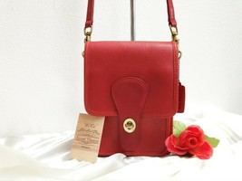 Rare Vintage Coach Shoulder Pouch #5120 Red Leather - NYC made 1983 - NWOT - $282.15