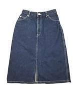 Vintage Lee Skirt size-9 Womens Denim Midi 1980s - $50.35