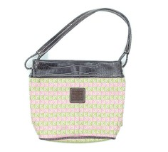 Liz Claiborne Womens Pink Green Signature Logo Preppy Shoulder Bag Purse - $22.95