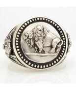 Buffalo Nickel Mens Coin ring sterling silver 925 - $100.98