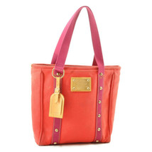 LOUIS VUITTON Antigua Cabas MM Tote Bag Rouge M40034 LV Auth 8553 - $298.00