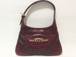 Gucci Mini Guccissima Shoulder Bag Burgundy - $519.75