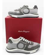 NIB Salvatore Ferragamo Mens Brooklyn Gray Suede Sneakers Shoes 10 M  $6... - $325.00