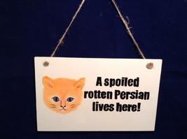NEW Elfworks Lane Rectangular Persian Cat Hanging Sign Made in USA