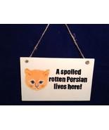 NEW Elfworks Lane Rectangular Persian Cat Hanging Sign Made in USA  - $39.99