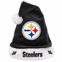 """Pittsburgh Steelers NFL Solid Black Holiday 18"""" Christmas Santa Hat *NEW* - $20.00"""