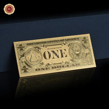 WR US 1$ Dollar Note Color Gold American Money Bill Collectible 18th BDday Gifts image 4