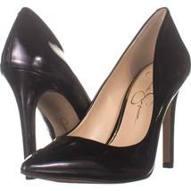 Jessica Simpson Cassani Pointed Toe Classic Heels 516, Black Patent, 6.5... - $27.06