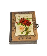 FREE SHIP: Antique Vintage Victorian Photo Album with Working Music Box - £99.20 GBP