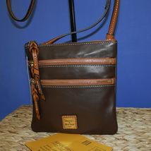 Dooney & Bourke Triple Zip Calf Leather Crossody NWT Brown image 9