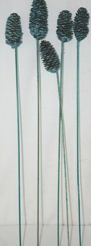 UniQue Designs Blue Glittery Decoration Pine Cones Set Of Five