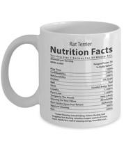 New Mug - Rat Terrier Lover Mug. Rat Terrier Nutritional Facts. - $10.99+