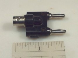 Pomona 1269 Adapter, BNC Single Jack to Dual Banana Plug - $9.69