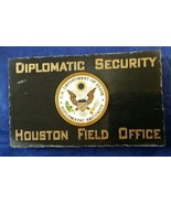 Diplomatic Security Houston Field Office w State Dept DSS Emblem Marble ... - $54.45