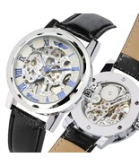 Skeleton Watch Men Mechanical Hand Wind Watches Men Steampunk Man Wristw... - $30.93