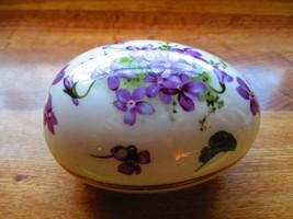 Collectable 'Victorian Violets' Fine Bone China Hammersley Trinket Box - $21.78