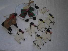 Estate Mixed Lot of 9 Black Faced Plastic Pottery Wood Sheep Lamb Christ... - $12.19