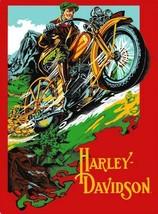 Harley Davidson Rider Embossed Motorcycle Tin Sign - $19.95