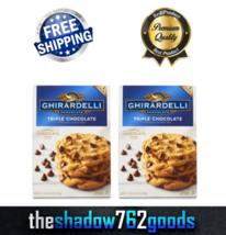 Ghirardelli Triple Chocolate Premium Cookie Mix 3-17.5 oz Pouches 2-PACKS - $51.98