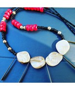 Natural shell seed bead necklace - $32.15