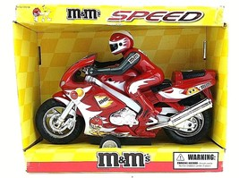 M&M's SPEED Super Race Motorcycle Friction Powered Damaged Box 2005 SUPE... - $108.89