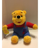 "Winnie The Pooh Mattel 1997 Talking Nose Wiggles Bear Plush 10"" Seated - $10.39"