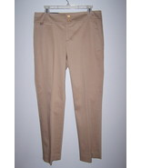 Chaps Slimming Fit Women's Casual Dress Slacks Beige Size 10P NWT - $13.99