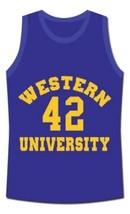 Ricky Roe Western University Basketball Jersey Blue Chips Movie Blue Any Size image 4