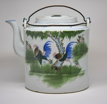 Antique Chinese Porcelain Large Teapot - 7 inches tall - Mid 1900's -  - $86.12