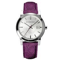 Burberry BU9122 The City Silver Dial Purple Strap Watch - 34 mm - Warranty - $240.00