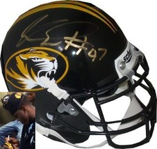 Kony Ealy signed Missouri Tigers Authentic Schutt Mini Helmet - $44.95