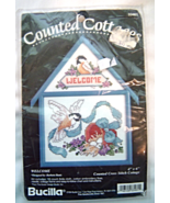 "Bucilla Counted Cottages - Birds ""Welcome"" Cross Stitch Kit 33461 NIP S... - $12.99"