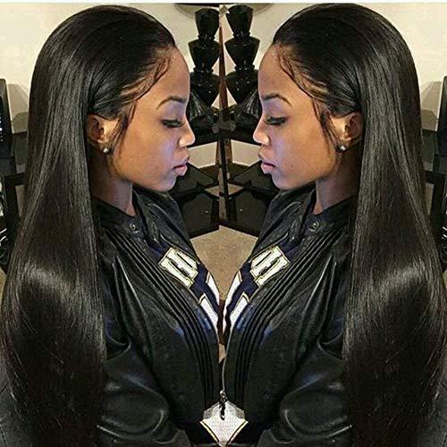 Virgin Hair 360 Lace Frontal Wig 150 Density Brazilian Human Hair Glueless Strai