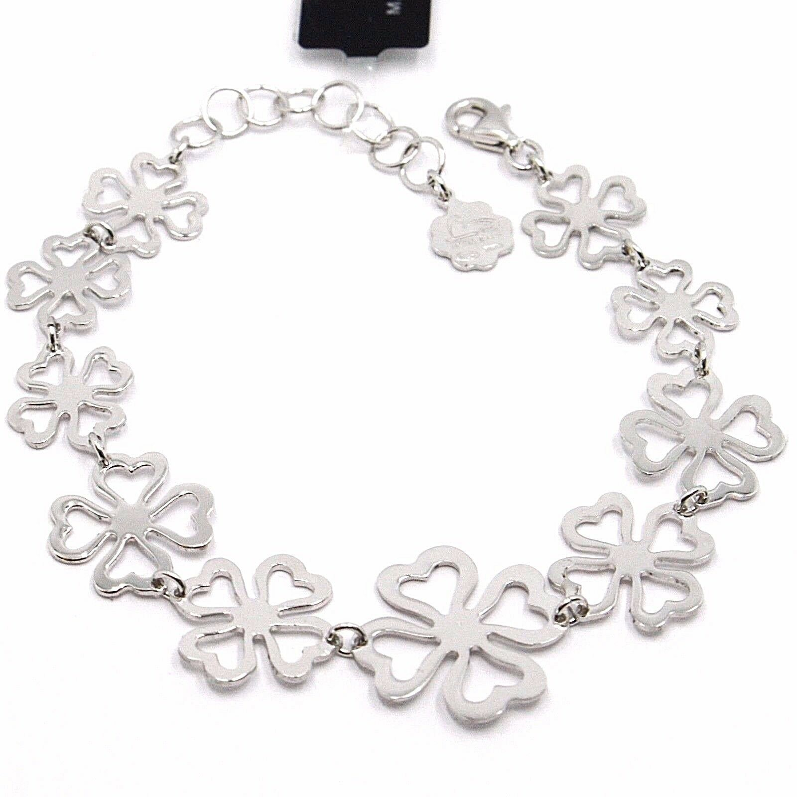925 Silver Bracelet, Four-Leaf Clover Good Luck Charm, by Mary Jane Ielpo ,