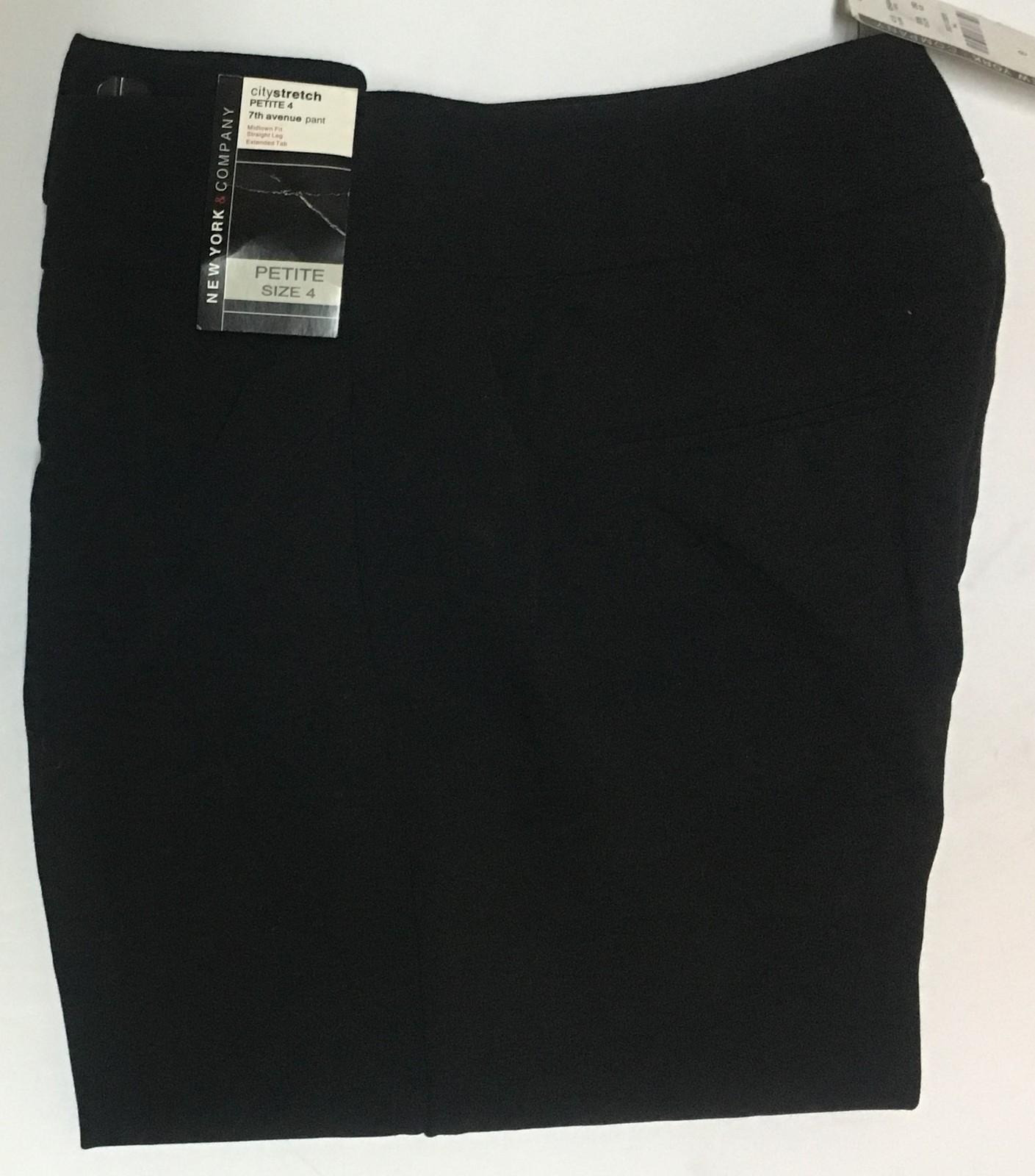 NY&Co. City Stretch 7th Ave Black Dress Pants SZ 4P