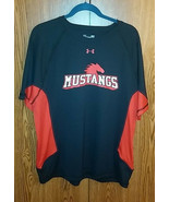SMU mustangs Black/Red Shirts Under Armour Mens Large Short Sleeve - $31.49