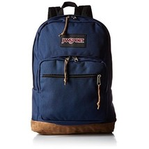Right Back Pack Navy Leather Heavy Duty Construction School Work Hike Bo... - $102.48 CAD