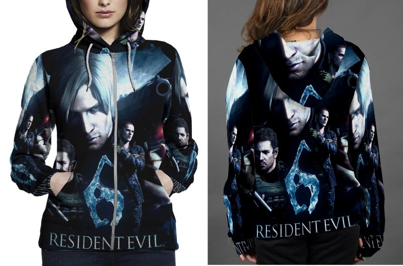 Primary image for RESIDENT EVIL 6 COVER HOODIE ZIPPER FULLPRINT WOMEN