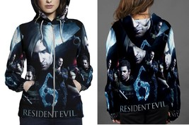 RESIDENT EVIL 6 COVER HOODIE ZIPPER FULLPRINT WOMEN - $46.80+