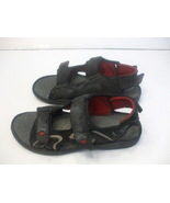 Boys And Mens Black Sandals Size 8 with 3 Adjustable Straps - $12.99
