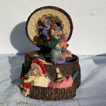 Twirling Mice in Mirror Music Box, Beautiful Design and Artwork, w/ Box - $30.00