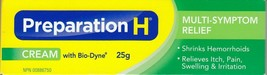 Canada PREPARATION H CREAM Bio Dyne Multi Symptom Relief 25g Fresh Exp 2... - $12.82