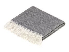 Alpaca Throw/Blanket - Diamond Herringbone - Natural Gray - ₹21,197.34 INR