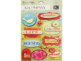 K&Company Brenda Walton Grand Adhesions Mira Words Sticker Set #547575