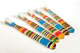 5-PACK Vintage NEW Designer Toothbrush By Alan Stuart New York FUN Colorful - $11.83