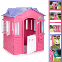 Little Tikes Princess Cottage Playhouse For Kids Girls Pink with Doors W... - $150.67