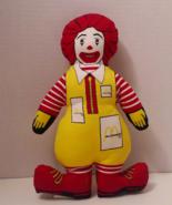 13 Inch Ronald McDonald Cloth Doll 1984 - £27.78 GBP