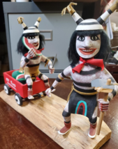 Navajo Kachina Double Watermelon Clown Kachina Handcrafted and Signed on base image 1