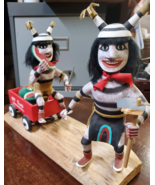 Navajo Kachina Double Watermelon Clown Kachina Handcrafted and Signed on... - $110.00